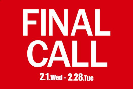 セールのお知らせ<FINAL CALL>