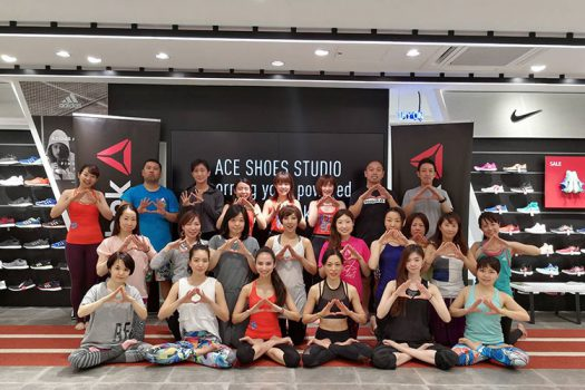 "4/23(日)""ACE SHOES STUDIO morning yoga powered by Reebok"" 報告レポート"
