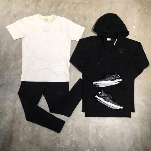こんにちは! ABC MART SPORTSららぽーと湘南平塚店です . . シューズも合わせるのがオススメです♀️ メンズの商品ですが、 パンツは特にスッキリしているので 女性が着用しても◎です🤩 . . ジャケット M PACE キモノスウェット 01 ブラック ¥10,000+tax . パンツ M PACE PRIMARY スウェット 01 ブラック ¥8,000+tax . Tシャツ M PACE PRIMARY Tシャツ 02 プーマホワイト ¥4,000+tax . シューズ IGNITE FLASH EVOKNIT 01 BLACK/WHITE ¥7,900 .
